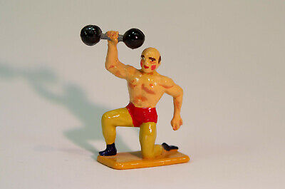 Cast Metal Figure After Crescent Toys Circus Strong Man, Re-cast C1995. • 8.50£