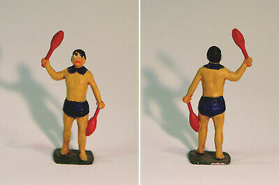 Collector's Metal Figure, Performer Juggling With Indian Clubs, After Charbens • 10£