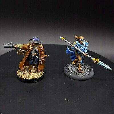 2 Very Nicely Painted  Warmachine  Cygnar Faction Characters  • 16£