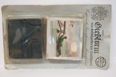 Vintage Airfix Lead Soldiers Mould German Infantry Machine Gunner • 9.99£