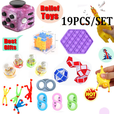1~24PCS Fidget Toys Set Sensory Tools Bundle Stress Relief Hand Kids Adult Toy T • 16.99£