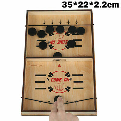Fast Sling Puck Game Hockey Game Tablet Board Game Family Fun Games Child Toy RA • 13.79£