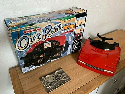 Rare Boxed Grandstand / Sega Outrun Vintage 1989 Tabletop LCD Game - Awesome ! • 275£