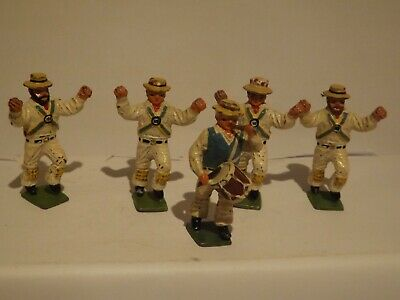 Cherilea ... Five Dorset White Horse Morris Men Dancers..very Rare Unboxed 1/32 • 22.99£