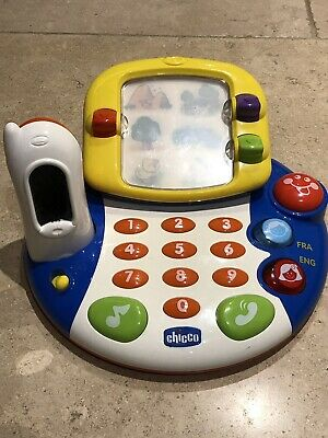 Chicco Bilingual Baby Toy Phone Set French And English • 7.50£