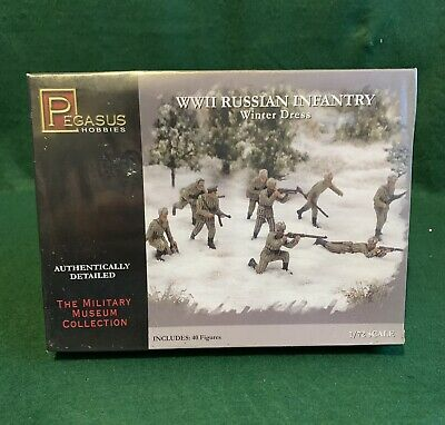 Pegasus 7269 WWII Russian Infantry Winter Dress 1:72 Kit New Boxed • 9.99£