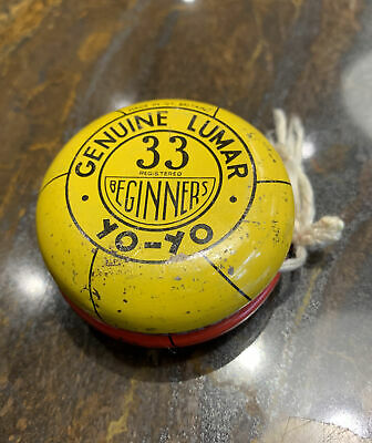 Vintage Genuine Lumar 33 Beginners Yo-Yo YoYo Yellow And Red • 6£