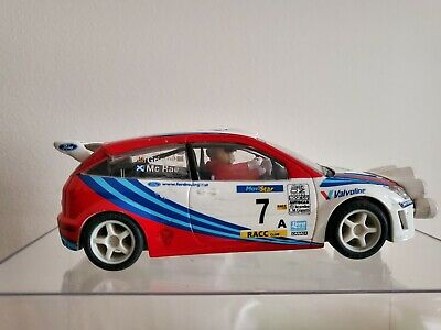 SCX  Ford Focus WRC 7 Colin McRae And Grist  With Lights, Boxed, Good Condition • 37£