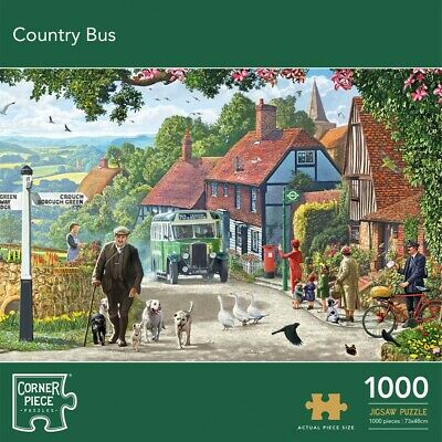 Country Bus 1000 Piece Jigsaw Puzzle, Toys & Games, Brand New • 9£