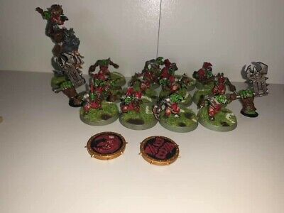 Bloodbowl Goblin Team And Dice • 45£