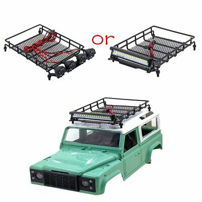 Metal Luggage Roof Rack W/LED Light Bar For MN D90/90K/99/96/99S Climbing RC Car • 12.79£