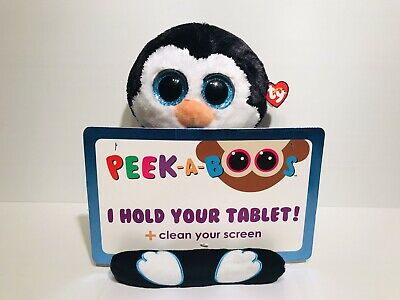 Ty Beanie Peek A Boos Tablet Stand Clean Screen - Penni Black White Penguin New • 15.25£