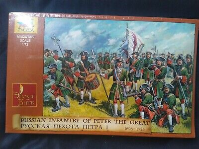 Zvezda 1/72 Russian Infantry Peter The Great WSS Marlburian Airfix Sealed Box • 20£