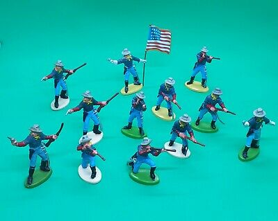 Vintage Britains Herald US 7th Cavalry Toy Soldiers X 12   1/32 Scale • 36£