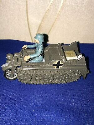 VINTAGE Britains Ltd 'kettenkrad' Military Vehicle With Soldier • 20£