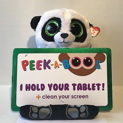 Ty Beanie Peek A Boos Tablet Stand Clean Screen - Poo Panda Black White New • 24.95£
