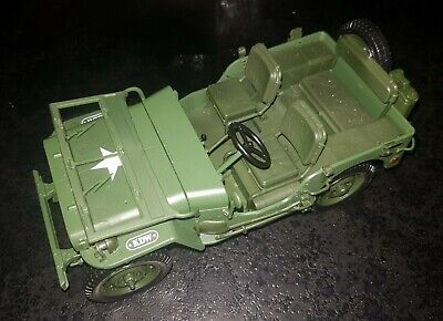 1:18 Jeep Willys US ARMY 1/4 Truck Green Diecast Model Military Vehicles KDW • 15.99£