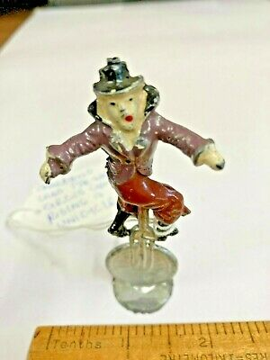 Rare Pre War Charbens Lead Toy Circus Clown On A Unicycle • 49.99£