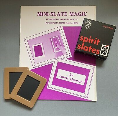 Vintage Magic Tricks Mini Slates And Book • 9.99£