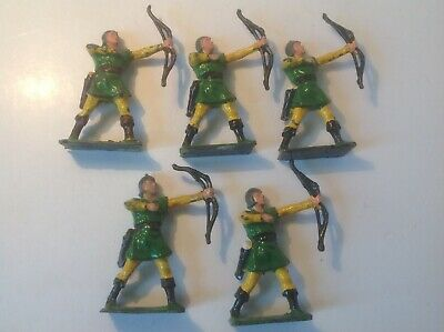 Cherilea Original Lead 1950s Archers X 5. • 24.99£