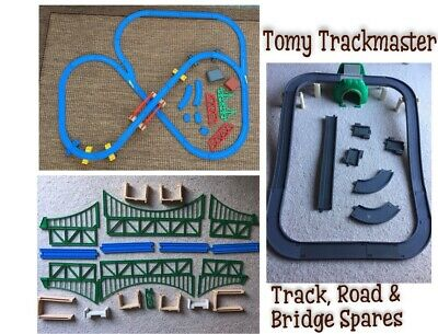 Tomy Trackmaster Spare Blue Train Track Splitter Points Bridge Grey Road Tunnel • 18£