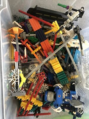 K'Nex Bundle/ Job Lot, Assorted Parts, Some Figures Included Plus More In Box • 10£