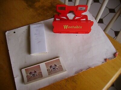Vintage Weetabix Vistascreen Viewer & 1 Full Set 3-D Cards & Some Extras From 19 • 4.50£