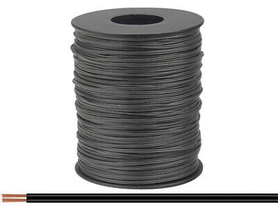 100m Cable Wire Twin Braid 2x0, 08mm ² Black Stranded Double • 39.98£