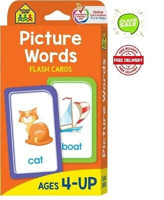 Baby Book First Words Picture Words Flash Cards For Toddler Kid By School Zone • 3.69£