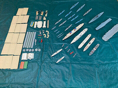 Vintage Tri-ang Collection Of Ships, Port, Sea Play Mat And Numerous Accessories • 34£