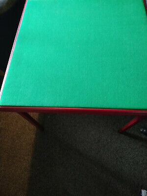 13264) Foldaway Card Table 28  Tall And 31.75  Square Top • 9.95£