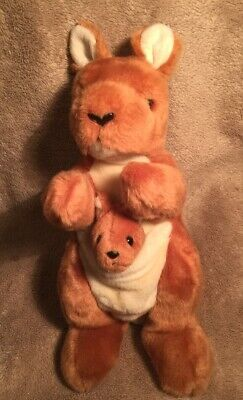 Vintage Kangaroo And Baby The Beanie Buddies Collection Soft Toy • 5£