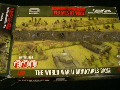 WARGAMES 15 Mm Entrenchments TRENCH Flames Of War WW2  • 19.99£