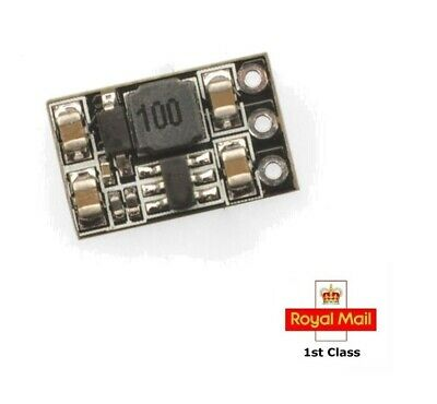 DC-DC Voltage Booster 1S Lipo 3.7V To 5V Synchronous Module Output 0.5A For FPV • 4.85£