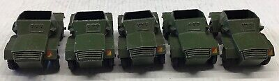 5 X DINKY TOYS 673  SCOUT CARS. SOUND  WITH MODERATE  WEAR. NO DRIVERS  • 12.95£