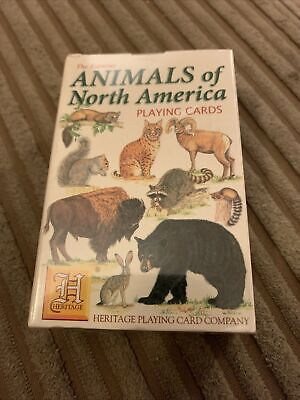 Heritage Playing Cards. Animals Of North America. [Toy] • 5£
