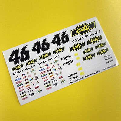 SLOT CAR SCALEXTRIC 1/32nd 'CITY' Days Of Thunder Stickers Decals NASCAR • 5.95£