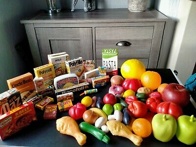 Toy Food, Plastic Fruit, Vegetables, Meat,  Pretend Shop Play • 4.45£
