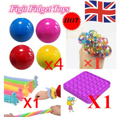 Sensory Fidget Toys Anxiety Stress Relief Toys Kids Adult Decompression Gift Set • 9.83£