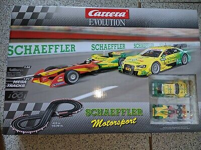 Carerra Evolution Schaeffler Motorsport Set Slot Car Cars&Track Audi • 110£