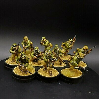 Pro Painted 28mm Bolt Action German Afrika Korps ×10 Squad #3 Ww2 Warlord Games • 80£