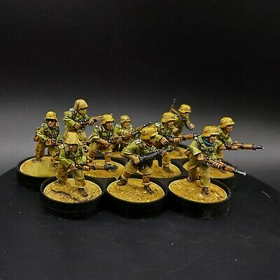 Pro Painted 28mm Bolt Action German Afrika Korps ×10 Squad #4 Ww2 Warlord Games • 80£