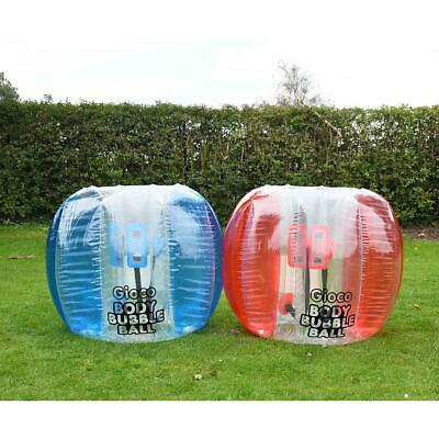 Gioco Inflatable Body Bubble Ball Red Or Blue • 54.99£