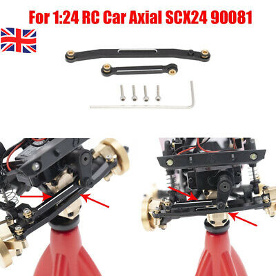 UK 1* Metal RC Car Upgrade Front Steering Rod Linkage For 1:24 Axial SCX24 90081 • 12.99£