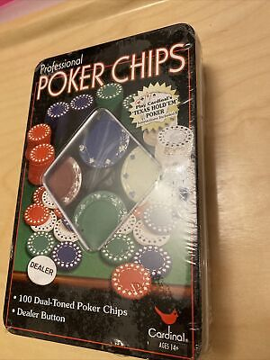 Tin Of Professional Dual-toned Poker Chips By Cardinal • 1.99£