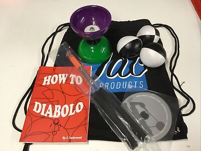 Juggling Activity Set, Diabolo,Handsticks, Booklet,DVD,Juggling Balls & Bag • 18.99£