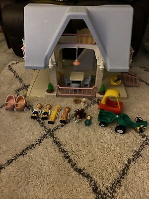 Vintage Little Tikes Dolls House With Dolls & Furniture • 75£