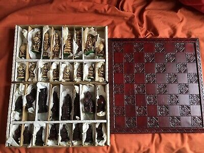 Vintage ALICE IN WONDERLAND CHESS SET In Box W Chessboard From PAST TIMES • 51£