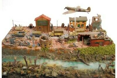 Incredible Museum Standard Wwii Diorama Battle Scene • 200£