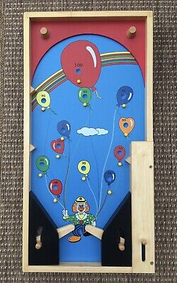 Childrens Pintoy Wooden Pinball Bagatelle Toy • 8£